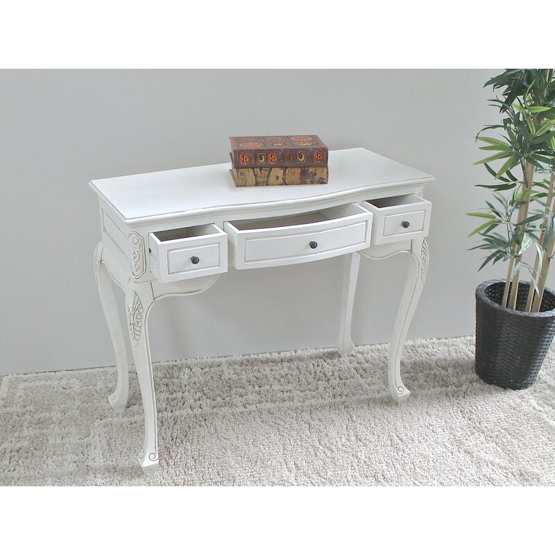 Soliz Hand Carved Wood Antique Vanity Desk - Lark Manor Soliz Hand Carved Wood Antique Vanity Desk & Reviews