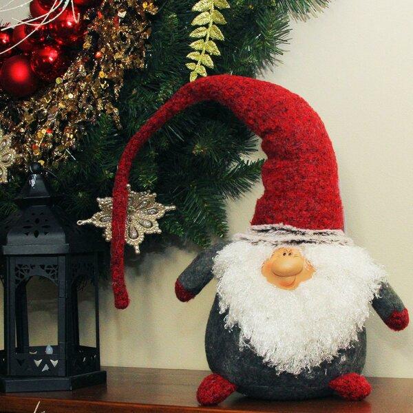 the holiday aisle plush nordic santa christmas gnome with bendable hat tabletop figure wayfair - Christmas Gnome