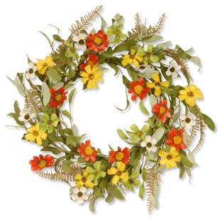 Floral Wreath With Sunflowers