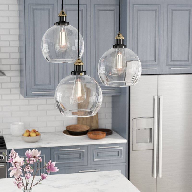 Contemporary Kitchen Lighting: Laurel Foundry Modern Farmhouse Rosier 3-Light Cascade