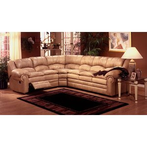 Riviera Leather Reclining Sectional by Omnia Leather