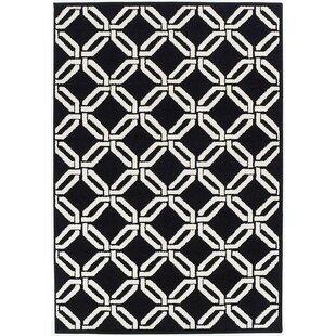 crofoot wool black indooroutdoor area rug - Black And White Rug
