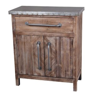 Alpine 1 Draw and 2 Door End Table by August..