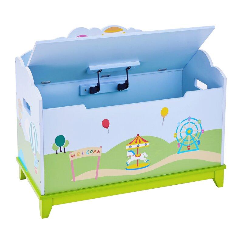 Small Safari Good Kids Folding Ottoman Storage Seat Toy Box
