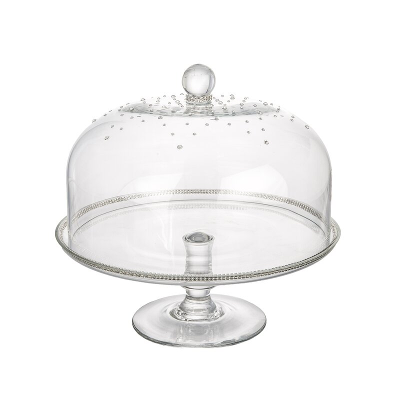 Beautiful Cake Stand With Dome Part - 14: Glass Dome Cake Stand