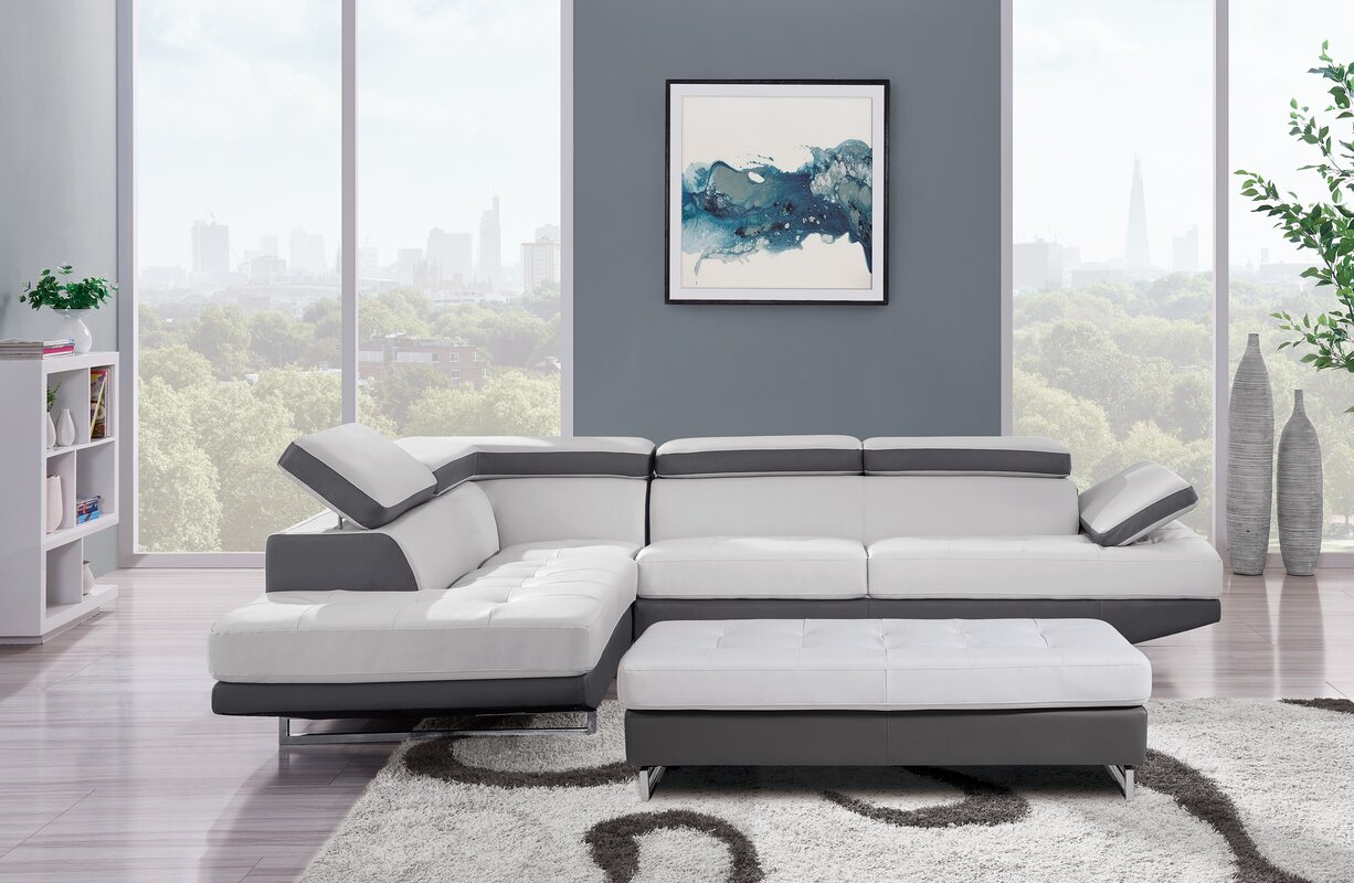 Global Furniture USA Natalie Sectional & Reviews | Wayfair