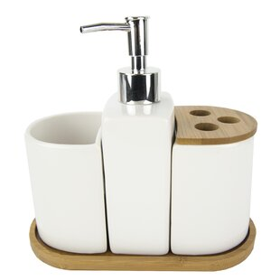 cf019f49bc9f Bamboo Accents 4 Piece Bathroom Accessory Set