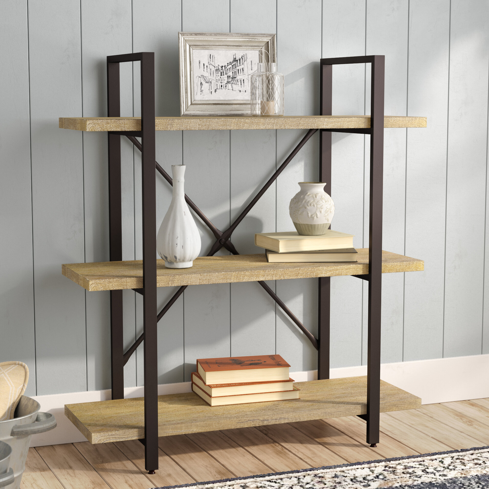 Cool Gray Rustic Bookcases Youll Love In 2019 Wayfair Download Free Architecture Designs Scobabritishbridgeorg