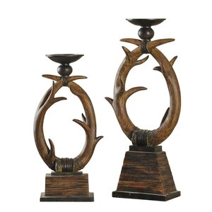2 Piece Candlestick Set