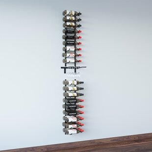 Wall Series 6 Glass and 45 Bottle Wall Mounted Wine Bottle Rack