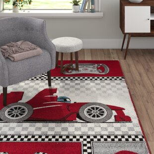 Orville 0460 Red Area Rug by Viv   Rae
