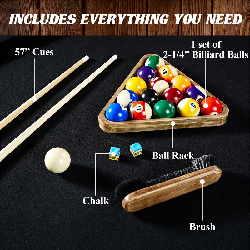 Urban 8u0027 Pool Table With Accessories