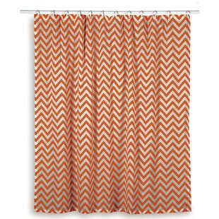 Teal And Orange Shower Curtain