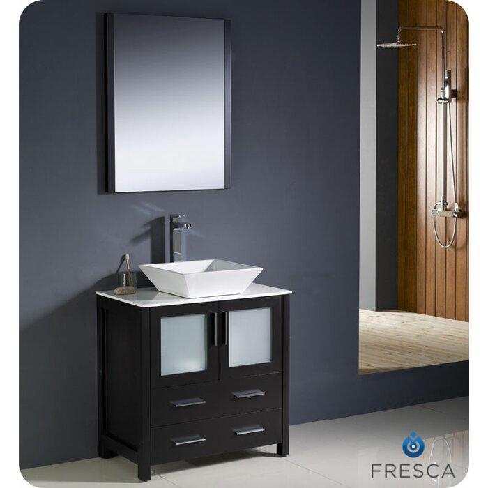 Torino 30 Single Bathroom Vanity Set With Mirror