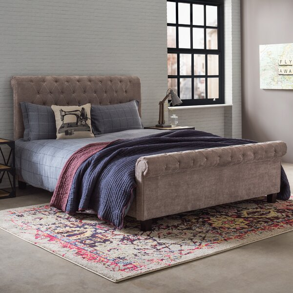 Borough Wharf Attayac Upholstered Sleigh Bed & Reviews