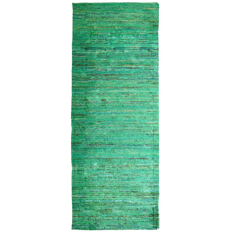 Sari Indian Hand Woven Green Area Rug