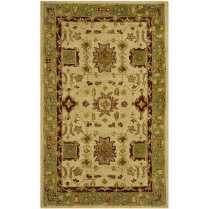 Ladd Ivory/Green Area Rug