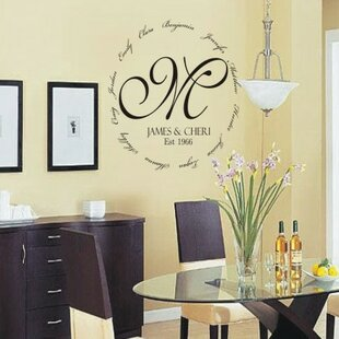 Wall Decal Quotes Word Decals Youll Love Wayfair - Advertize monogram wall decals