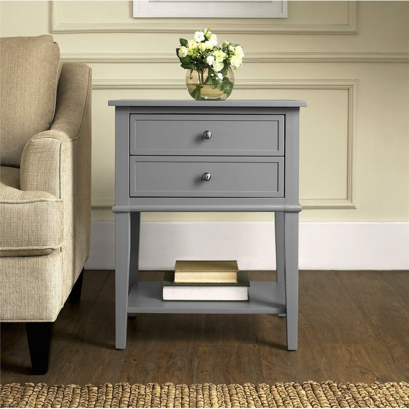 Beachcrest Home Winfield Side Table With Storage Reviews Wayfair