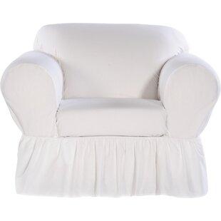 Charmant White Slip Covered Chair | Wayfair