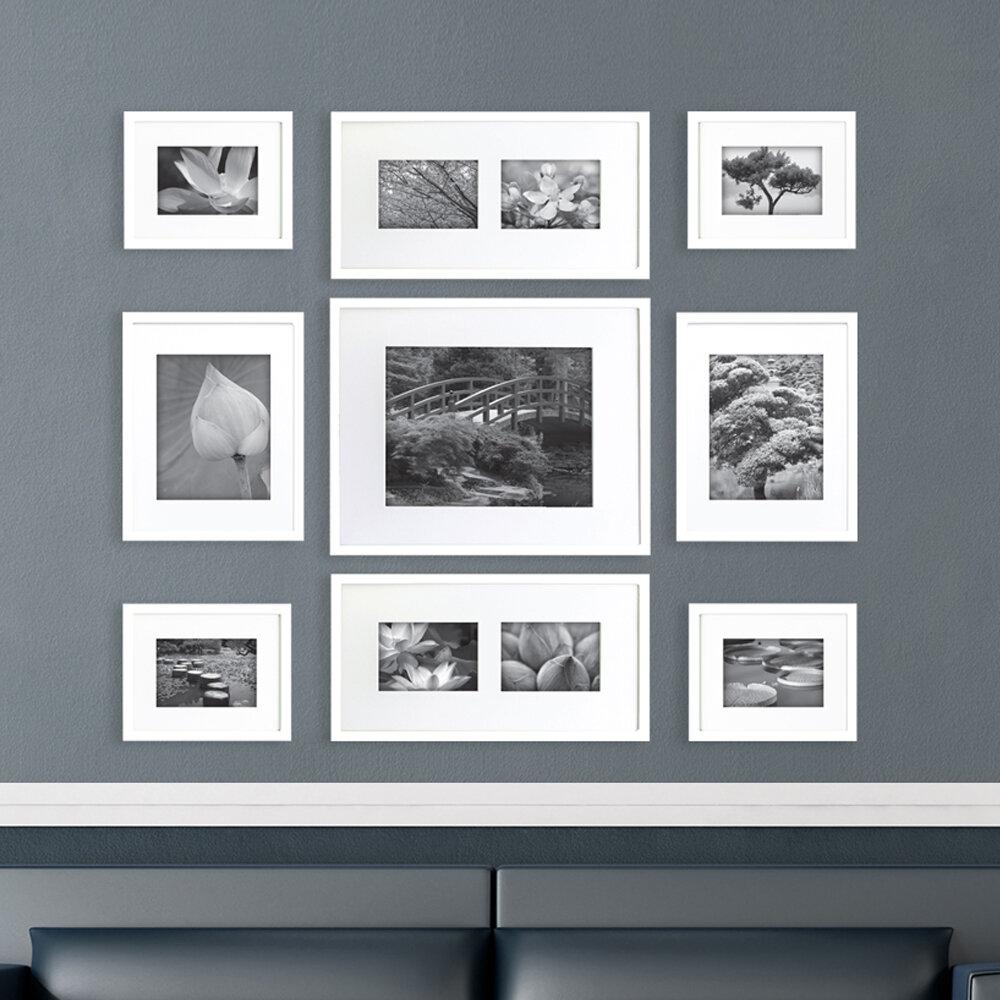 NielsenBainbridge Gallery Perfect 9 Piece Picture Frame Set ...