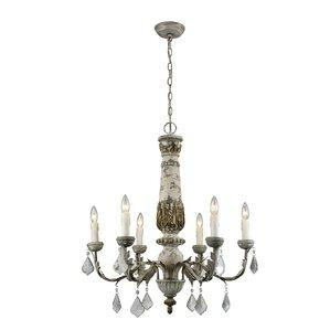 colmars 6light candlestyle chandelier