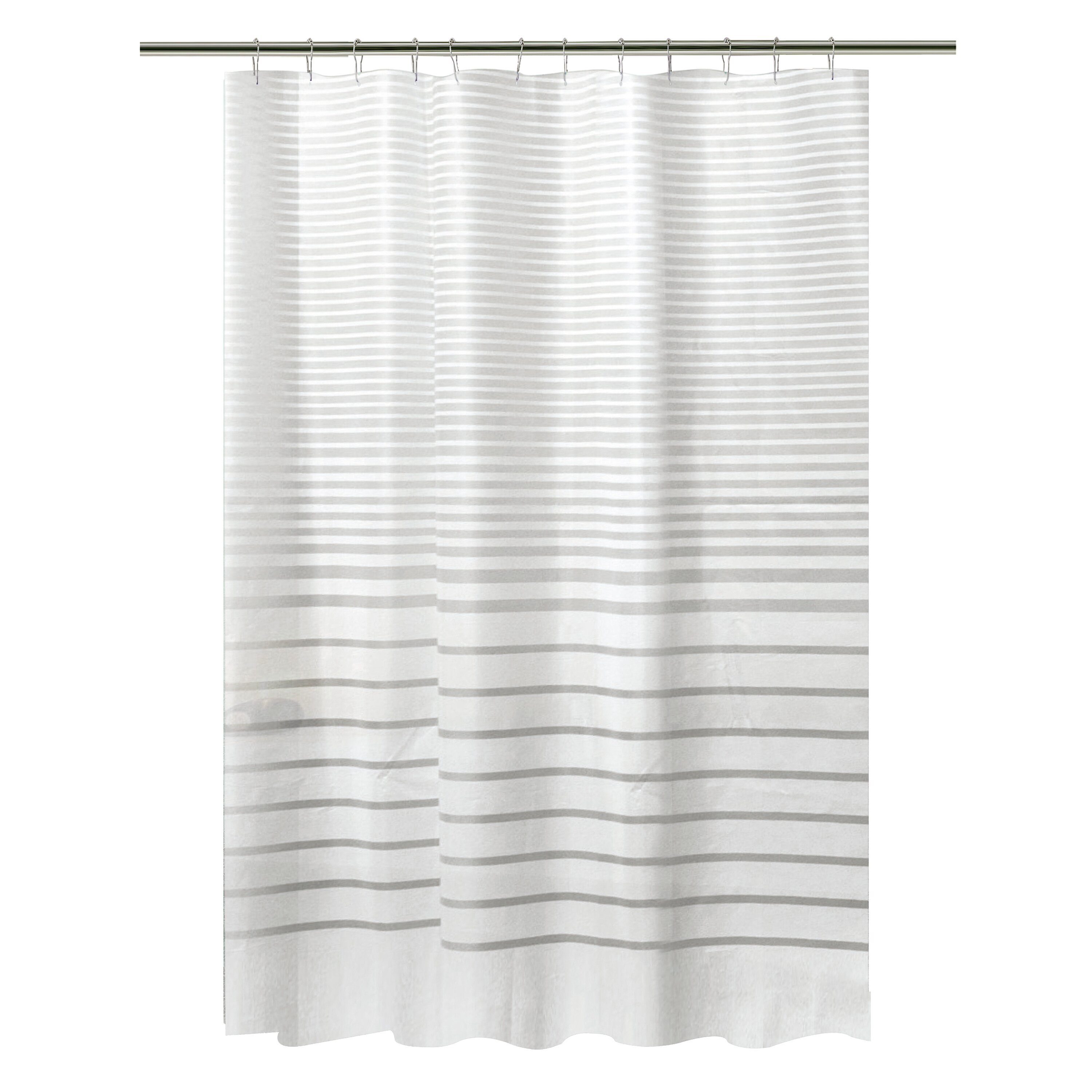 Bath Bliss Stripe Design PEVA Shower Curtain Set Reviews