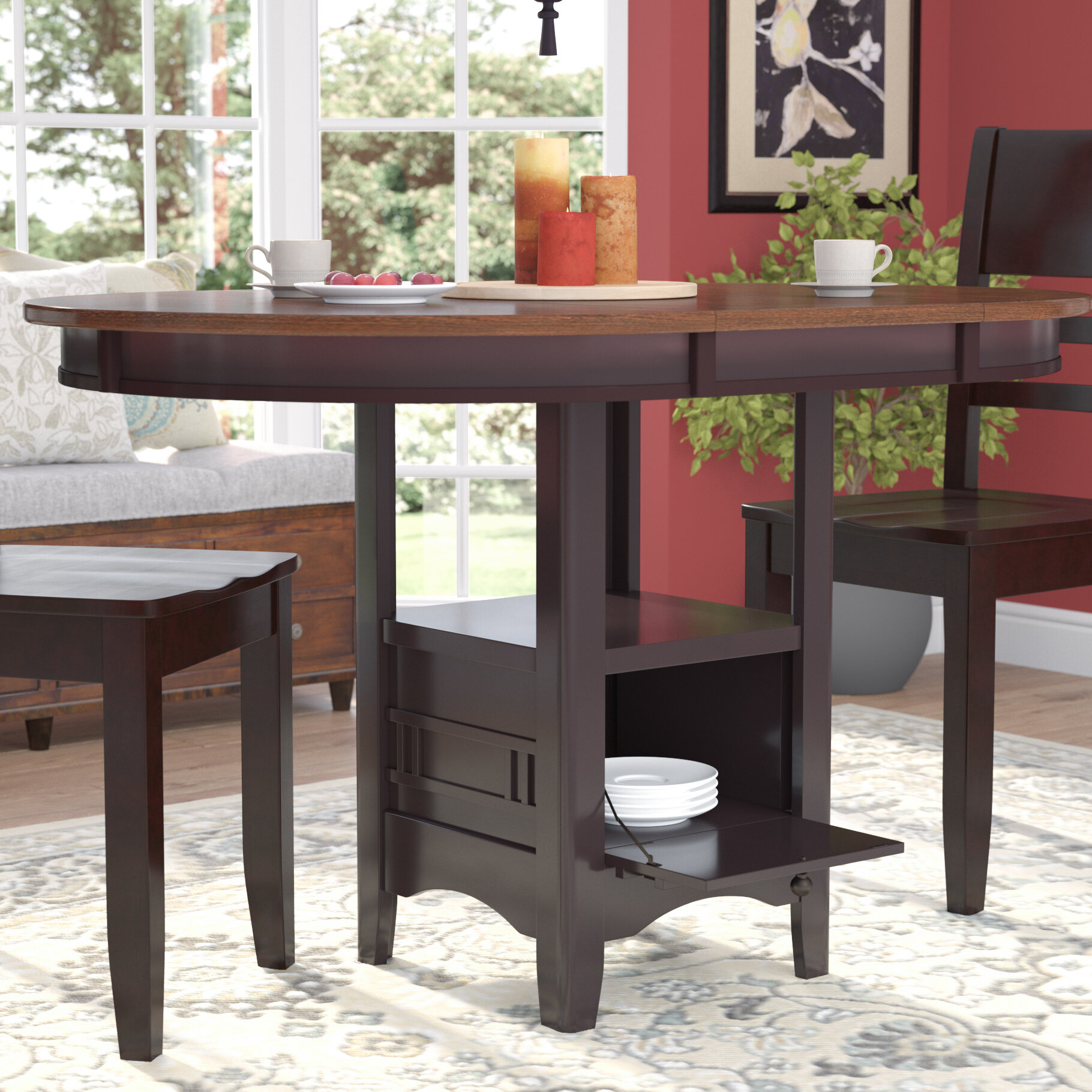 Darby Home Co Sinkler Counter Height Drop Leaf Dining Table Reviews