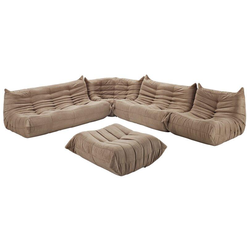 Modway Waverunner 5 Piece Living Room Set & Reviews | Wayfair