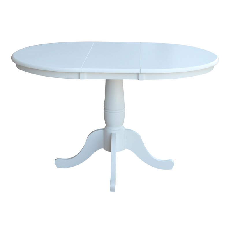 lark manor overbay pedestal 30 extendable dining table reviews wayfair. Black Bedroom Furniture Sets. Home Design Ideas