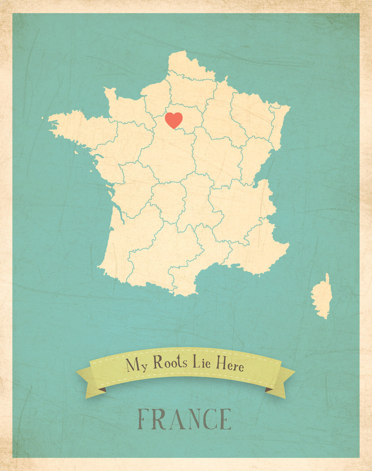 Children Inspire Design My Roots France Personalized Canvas Art ...