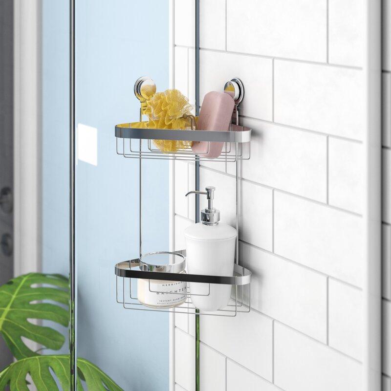 Rebrilliant Wall Mounted 2 Tier Corner Shower Caddy & Reviews   Wayfair