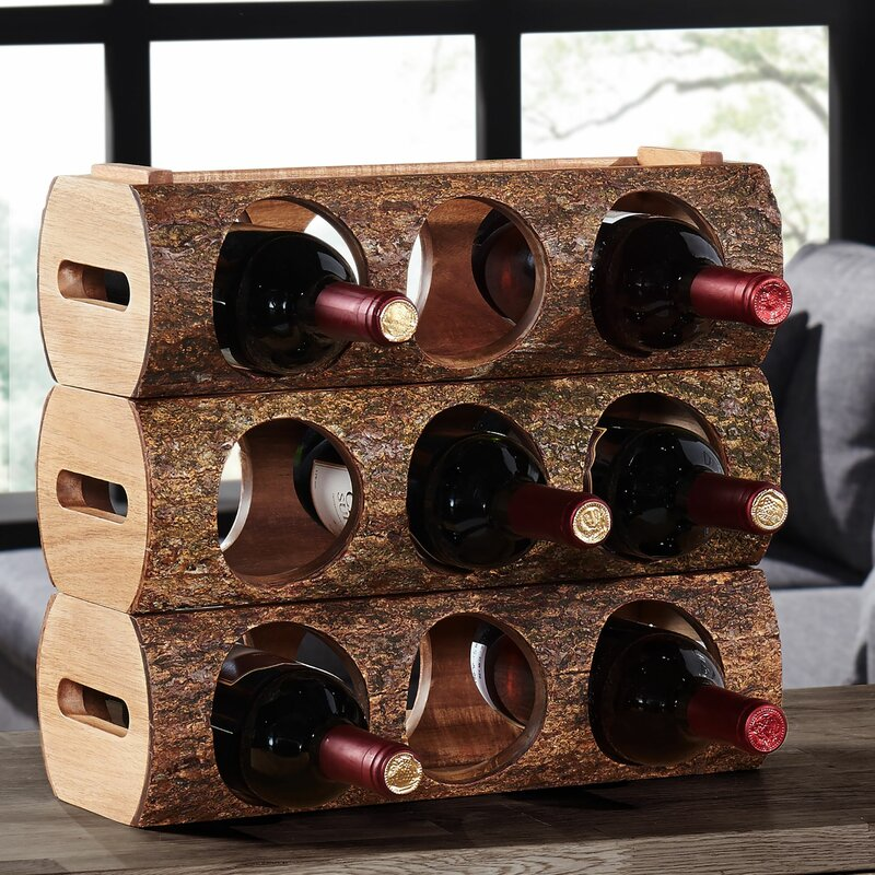 Loon Peak Bannan 3 Bottle Tabletop Wine Rack Reviews Wayfair