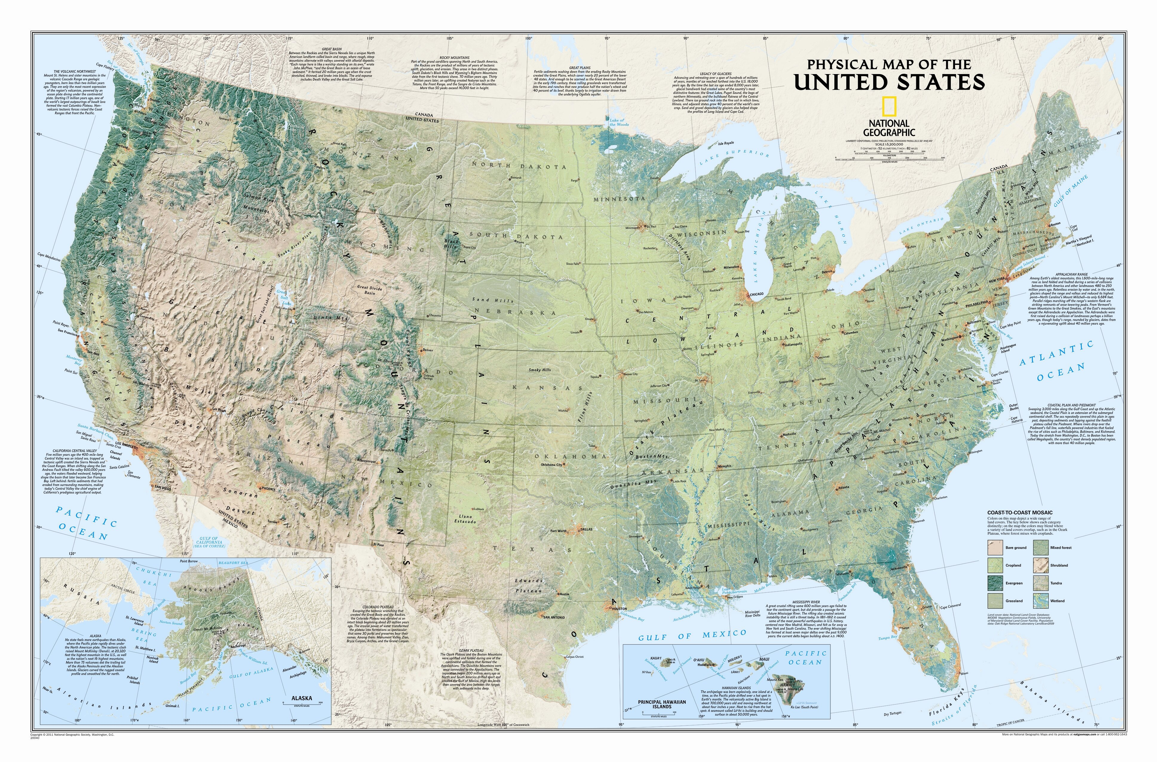 National Geographic Maps United States Physical Wall Map | Wayfair