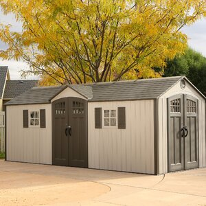 20 ft. W x 8 ft. D Metal Storage Shed