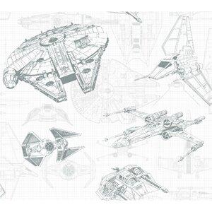 Disney Kids III Star Wars Ship Schematic 13.5' L x 27