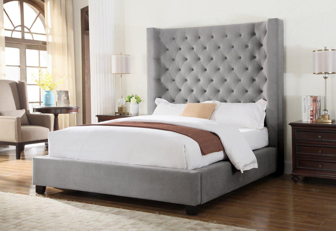 Wayfair Upholstered Panel Bed: BestMasterFurniture Upholstered Panel Bed & Reviews