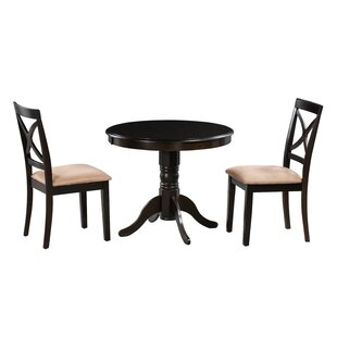 Katelyn 3 Piece Solid Wood Dining Set