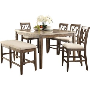 6 Piece Counter Height Dining Set by Infi..