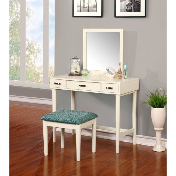 Worley Coffee Table: Worley Vanity Set With Mirror & Reviews