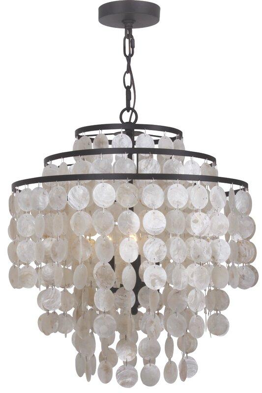 Devry 3 light waterfall crystal chandelier