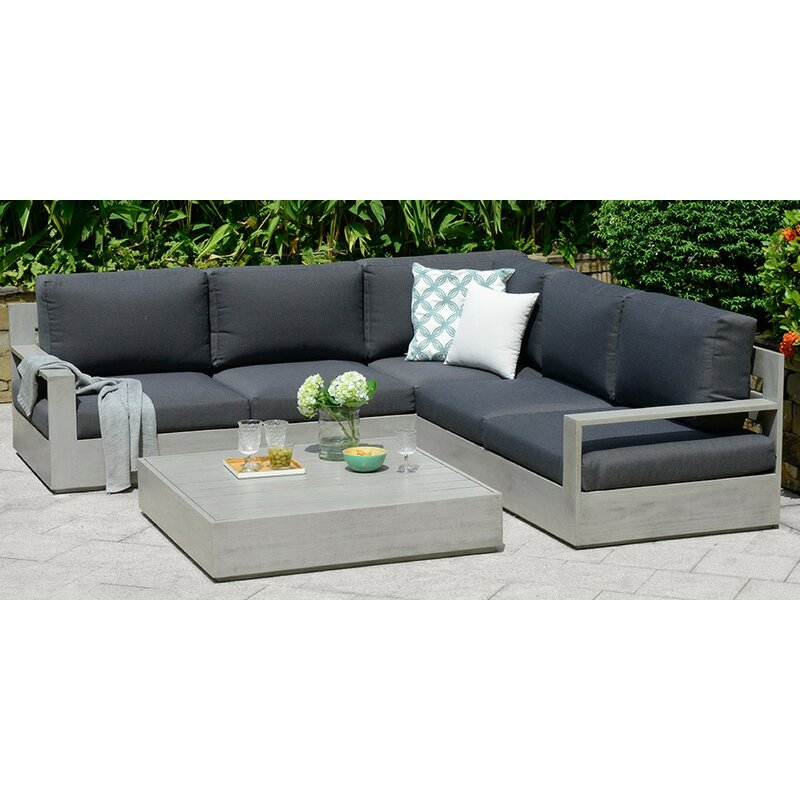 Deleon 4 Seater Corner Sofa Set