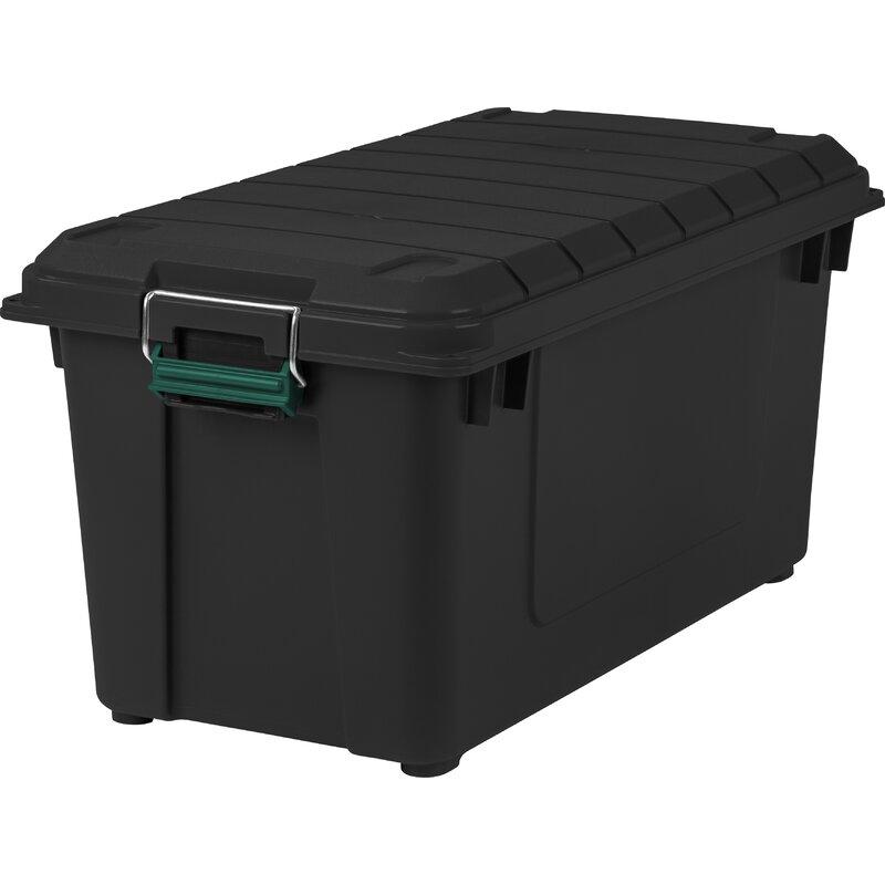 Weathertight 87.2 Qt Plastic Storage Tote