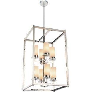 2 story foyer chandelier wayfair margie 8 light foyer chandelier aloadofball Images