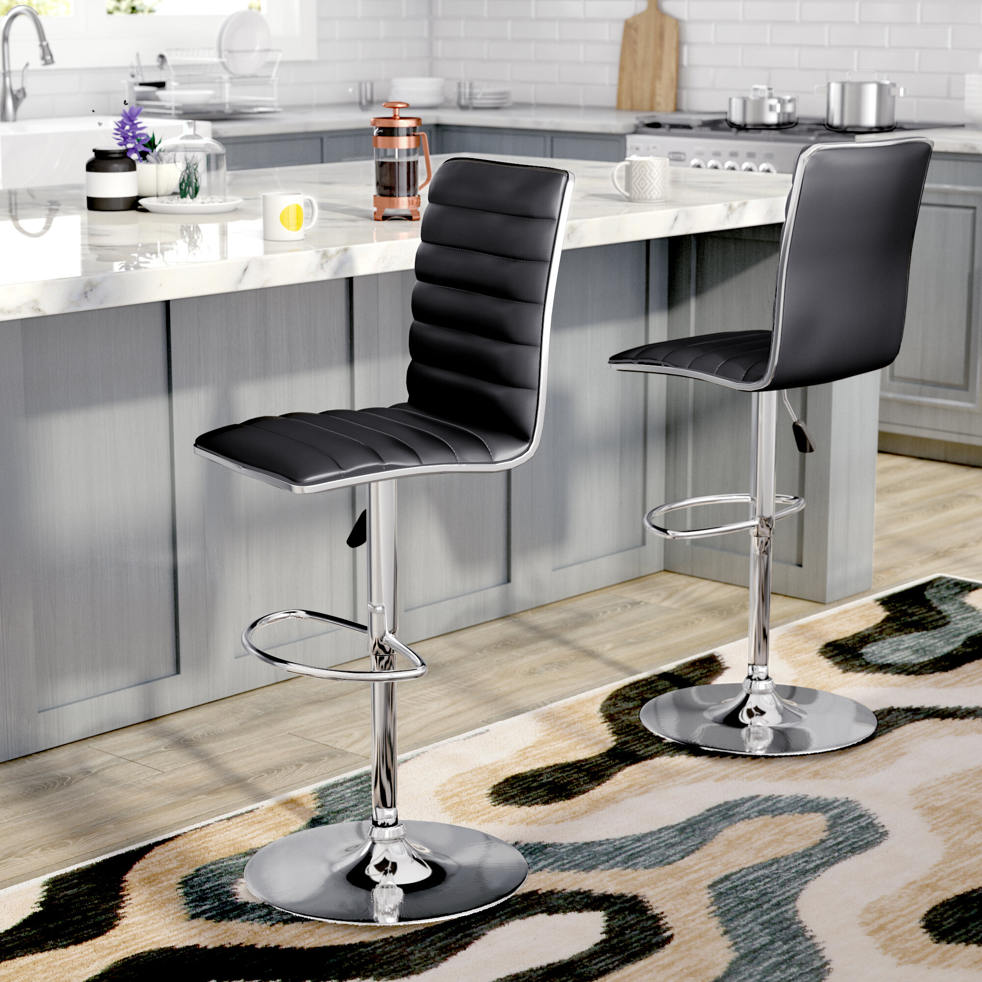 adjustable height chair. Zipcode Design Manuel Adjustable Height Swivel Bar Stool \u0026 Reviews | Wayfair Chair ,