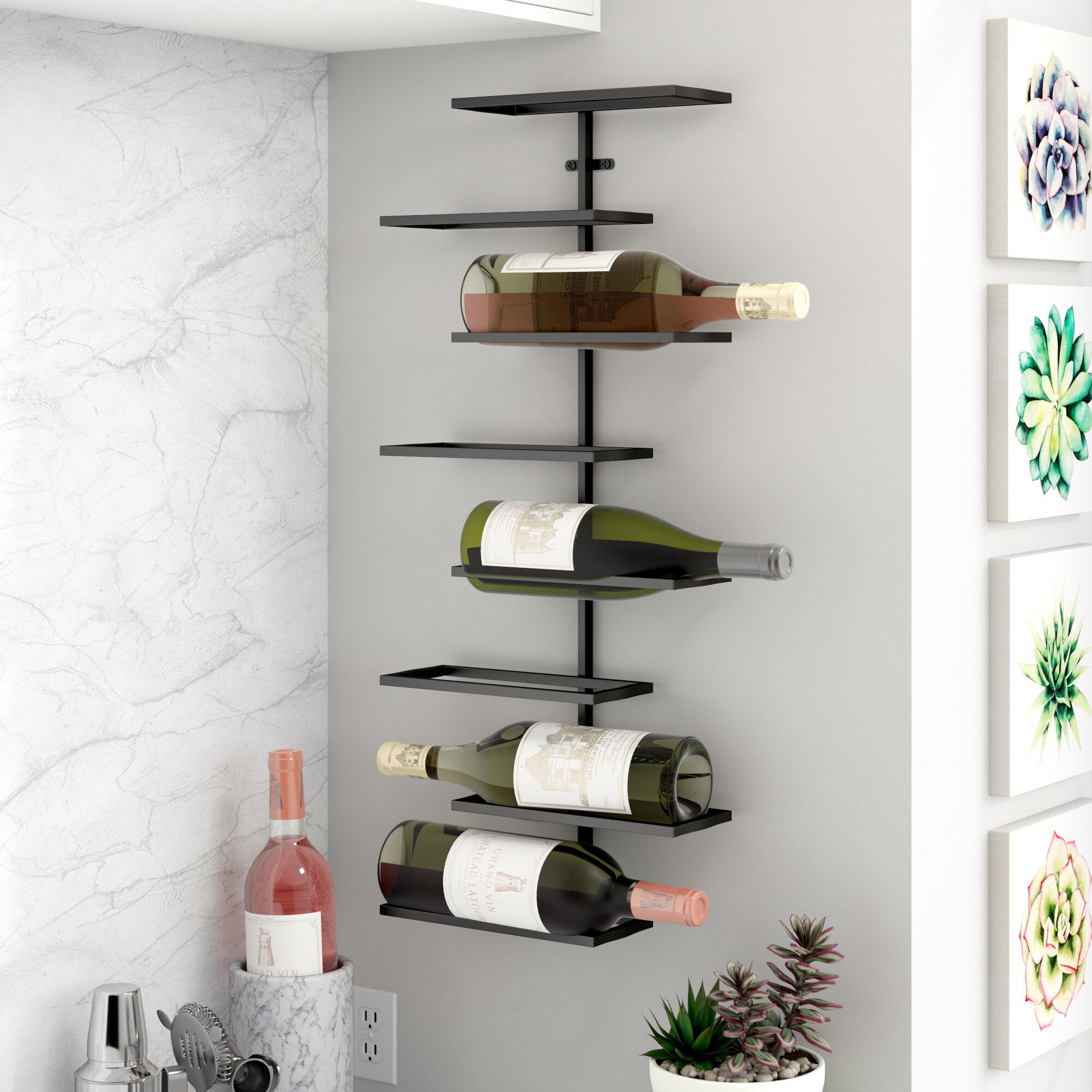 Wrought Studio Henderson 8 Bottle Wall Mounted Wine Rack Reviews