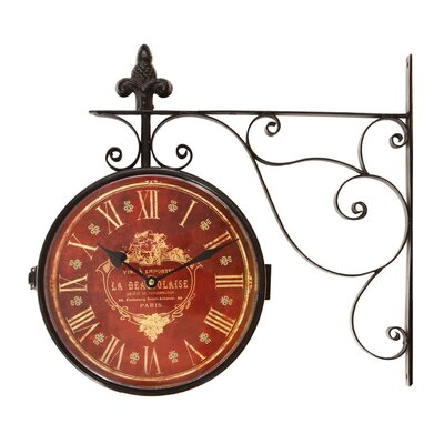 iron vintage inspired round wall clock
