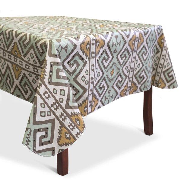 Bloomsbury Market Danae Aztec Print Heavyweight Vinyl Tablecloth | Wayfair