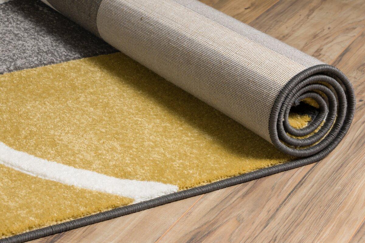 well woven teppich ruby in gelb grau bewertungen. Black Bedroom Furniture Sets. Home Design Ideas