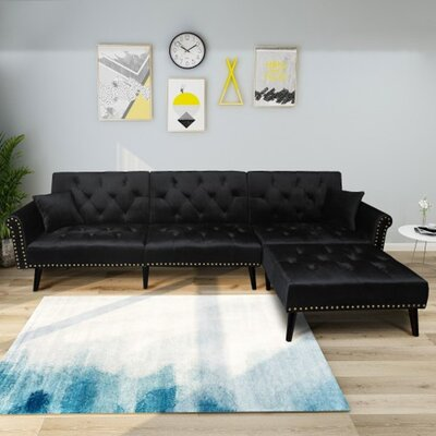Chaise Cuddler Sectional Sofa Wayfair